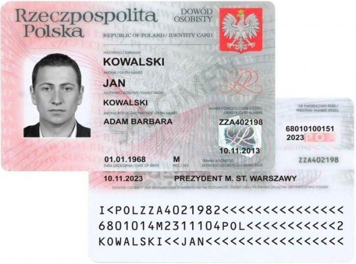 Informacja osystemie zabezpieczeń nowego dowodu osobistego (wzór 2015)