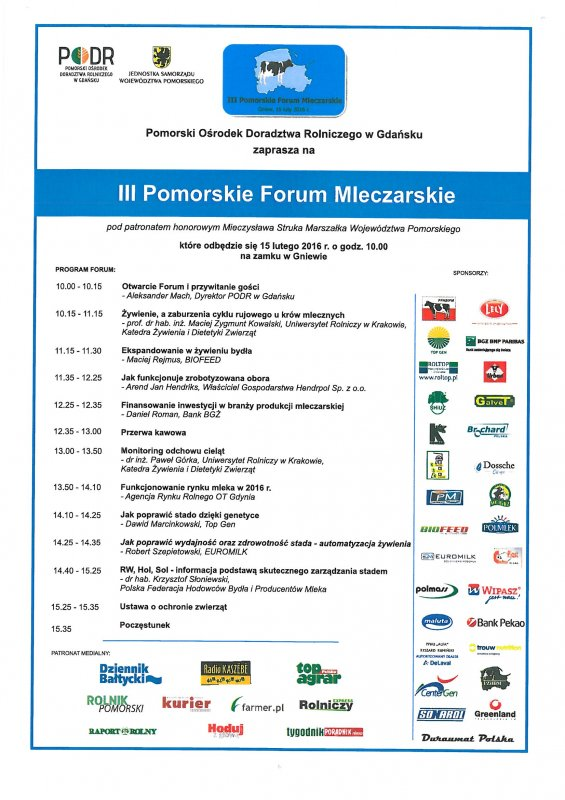 III Pomorskie Forum Mleczarskie