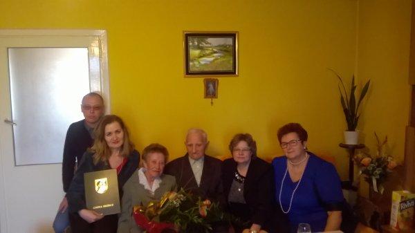 Złote Gody  Państwa Teresy i Bernarda Karwasz z Mirotek