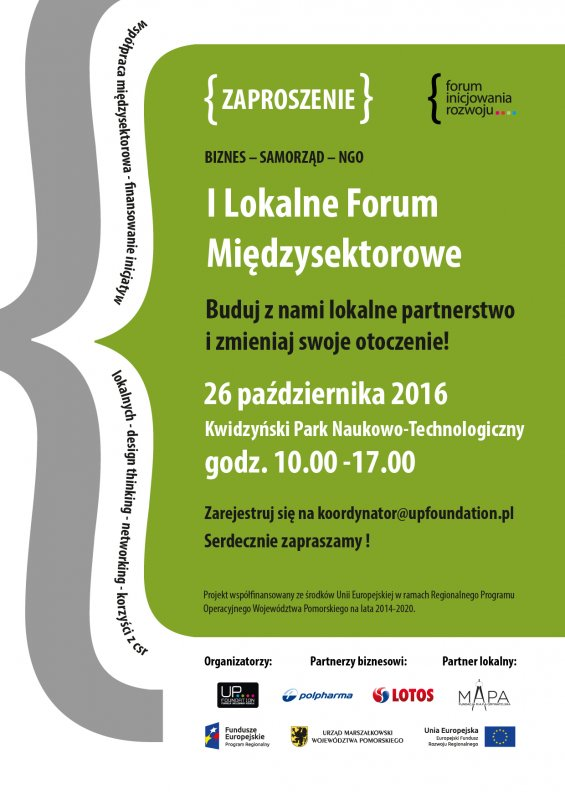 Zaproszenie na I Lokalne Forum Międzysektorowe