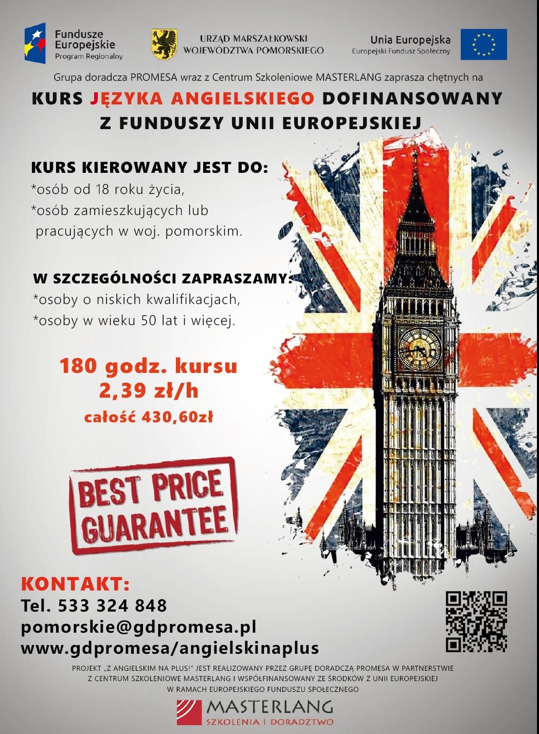 Kurs Języka Angielskiego Dofinansowany Z Funduszy Unii
